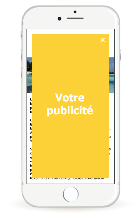 Bannière mobile - interstitiel